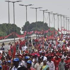 राजधानी कूच कर रहे 20,000 किसानों को पुलिस ने दिल्ली-यूपी सीमा पर रोका