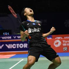 China Open: Anthony Ginting stuns Kento Momota in straight games to clinch title