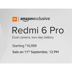 Redmi 6 Pro goes on sale today at 12pm, prices start from Rs. 10,999