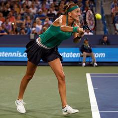Cincinnati: Kvitova overpowers Serena, Garcia ousts Azarenka, Pliskova, Barty advance