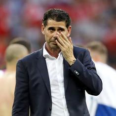 Fernando Hierro steps down as Spain coach after World Cup debacle