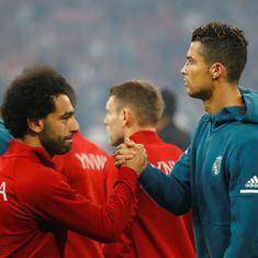 Ronaldo, Modric and Salah make up Uefa Player of the Year's three-man shortlist