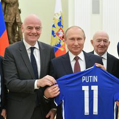 'We all fell in love with Russia,' Fifa president Gianni Infantino tells Vladimir Putin