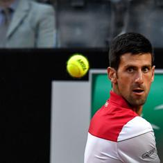 Djokovic enters first quarter-final of 2018 at Italian Open to set up Nishikori rematch