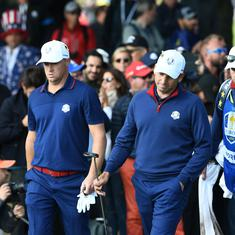 Golf: Europe fight back to take the lead thanks to a foursomes sweep of United States on Day 2