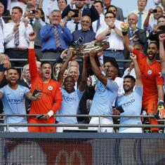Aguero double ruins Sarri's Chelsea bow as Manchester City clinch Community Shield