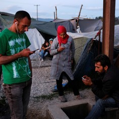 Phones are crucial to survival for refugees on the perilous route to Europe