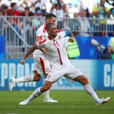 World Cup 2018: Kolarov's stunning free-kick goal helps Serbia defeat Costa Rica