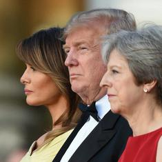 Ahead of their meeting, Donald Trump says Theresa May's Brexit plans will impact trade ties
