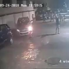 Watch: Eight-year-old Mumbai boy escapes narrowly after being run over by a car