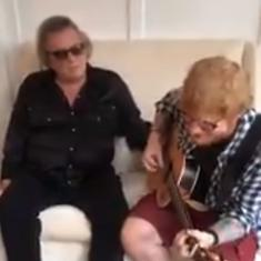 Watch this candid video of Don McLean and Ed Sheeran rehearsing 'Vincent' for their show
