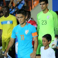 Chhetri's 100th sees India tested by the weather gods, but Blue Tigers hold steady and roar late