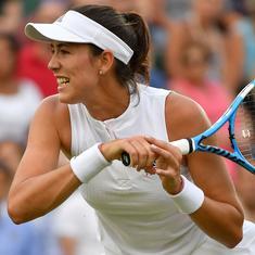 Wimbledon, day four, women's singles round-up: Defending champ Muguruza stunned, Halep progresses