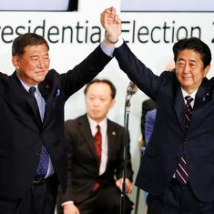 Japan: Shinzo Abe re-elected ruling party president, set to become longest-serving prime minister