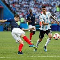 France's Benjamin Pavard wins World Cup goal of the tournament for screamer against Argentina