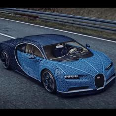 Watch: Lego made a life-size version of the Bugatti Chiron, and you can even drive it