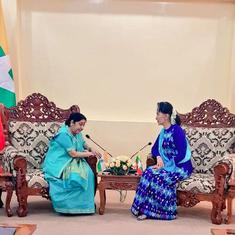 India willing to help safe return of Rohingya to Myanmar: Sushma Swaraj tells Aung San Suu Kyi