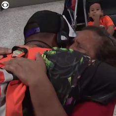 Watch: Eleven-year-old detained by US Immigration for over six months is reunited with his mother