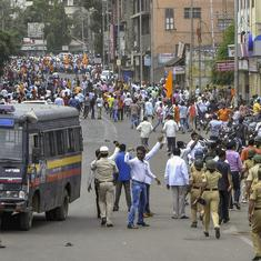 Maharashtra: Police book over 4,000 people for violence during Maratha protests in Chakan
