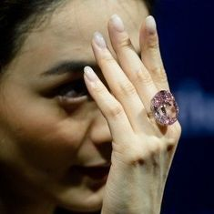 'Pink Star' diamond sold at a record $71.2 million at Sotheby's auction in Hong Kong