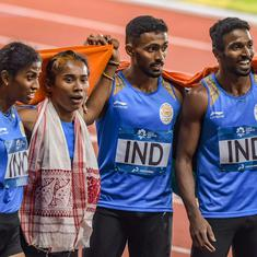 India's mixed relay silver at Asian Games set to be upgraded as Bahrain athlete fails dope test