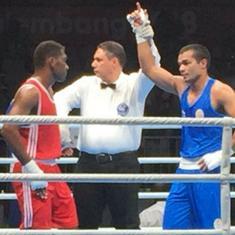 Asian Games boxing: Vikas, Dheeraj and Amit progress to quarter-finals, Hussamuddin bows out