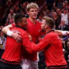 Laver Cup: Anderson defeats Djokovic as Team World bounce back to cut Europe's lead