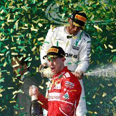 Ferrari's Sebastian Vettel wins Australian GP ahead of Mercedes' Lewis Hamilton and Valtteri Bottas