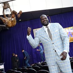 The legendary Shaquille O'Neal has finally been immortalised by the Los Angeles Lakers