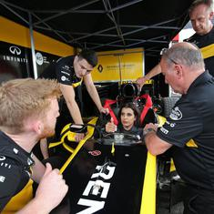 Saudi Arabia's Aseel Al-Hamad drives Renault's F1 car at French GP to mark end of ban