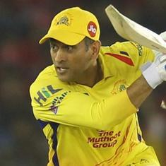 MS Dhoni gifts signed bat to India's badminton star K Srikanth, courtesy chief selector MSK Prasad