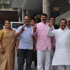 Uttarakhand's nine rebel Congress legislators join BJP