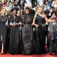 'Let's climb': 82 women hold landmark protest at Cannes  film fest venue steps to press for equality
