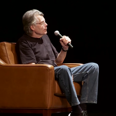 Video: 'Don't you ever have writer's constipation?' asks George RR Martin. 'No,' says Stephen King