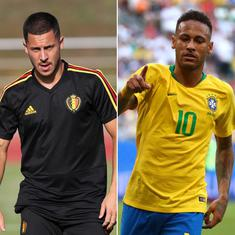Stats preview: Belgium's poor record against South American teams, Brazil's sixth straight QF