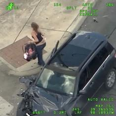 Drama in real life: A woman with a baby was arrested after a high-speed car chase in Texas