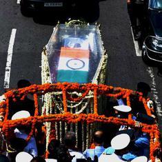 तस्वीरों में : अटल बिहारी वाजपेयी की अंतिम यात्रा