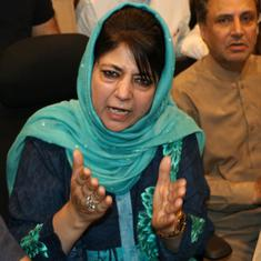 Mehbooba Mufti warns J&K police after meeting militant's sister who was allegedly harassed