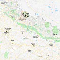 Uttarakhand: Two dead, at least five people trapped in landslide after cloudburst in Chamoli
