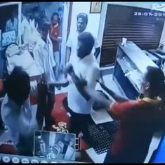 This is the video that shows DMK members assaulting restaurant staff on being denied free biriyani