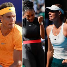 French Open Day 3 highlights: Serena's return, Nadal's surprising struggle, Sharapova gets a scare