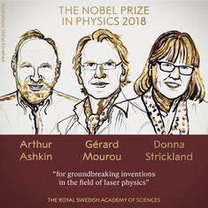 भौतिकी का नोबेल ऑर्थर अश्किन, गेरार्ड मौरू और डोना स्ट्रिक्लैंड को मिला