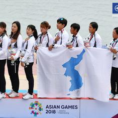 Unified Korea team clinch historic gold in 500 metres dragon at Asian Games