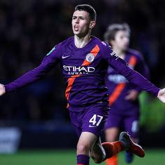 After first goal for Manchester City, Phil Foden receives 10-year plan from Pep Guardiola
