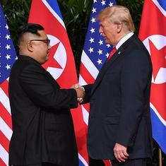 तस्वीरों में : डोनाल्ड ट्रंप और किम जोंग उन की ऐतिहासिक मुलाकात