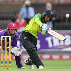 KIA Super League: Smriti Mandhana smashes joint-fastest women's T20 half century of all time