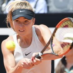 Elina Svitolina routs top seed Simona Halep to defend her Italian Open title