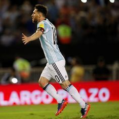 Lionel Messi penalty helps Argentina edge Chile 1-0 in  World Cup qualifier