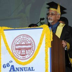 'We are again in a climate that questions the value and scope of academic freedom': Hamid Ansari
