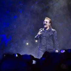 Watch: Rock band U2 frontman Bono loses his voice mid-song in Berlin concert